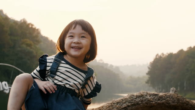 baby girl enjoyment at pang oung, mae hong son province in thailand - south east asian ethnicity stock videos and b-roll footage