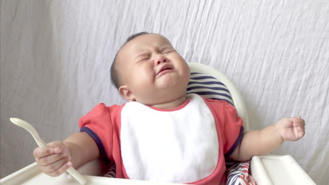 baby girl is hungry and crying - hungry stock videos & royalty-free footage