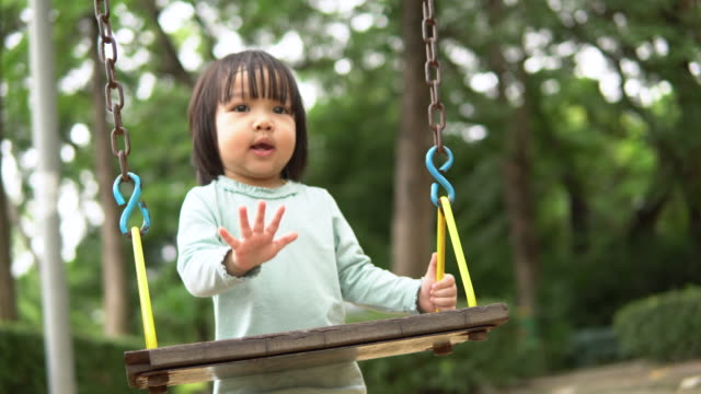 baby girl playing at summer playground - 2 3 years stock videos & royalty-free footage