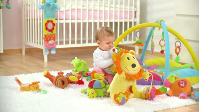 HD DOLLY: Baby Girl Playing With Toys