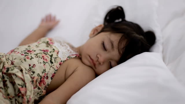 baby girl sleeping - comfortable stock videos & royalty-free footage