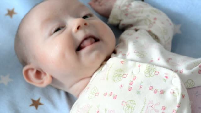 baby girl smiling - dimple stock videos and b-roll footage