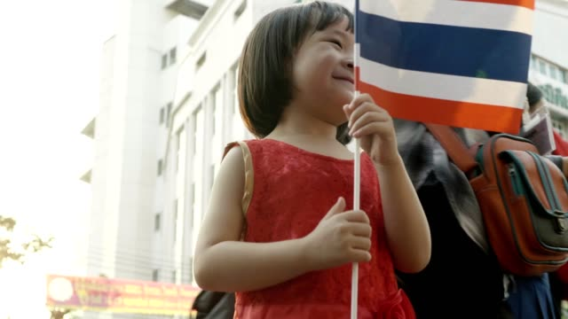 baby girl with chinese new year celebration - festival tradizionale video stock e b–roll