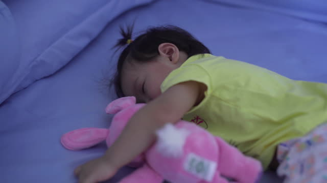 baby girls sleeping. - one baby girl only stock videos & royalty-free footage