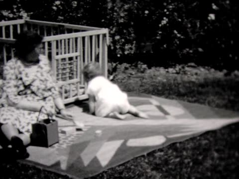 1931 baby, grandma and frisky dog - 1931 stock videos & royalty-free footage