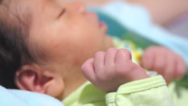 baby hand close-up - one baby boy only stock videos & royalty-free footage