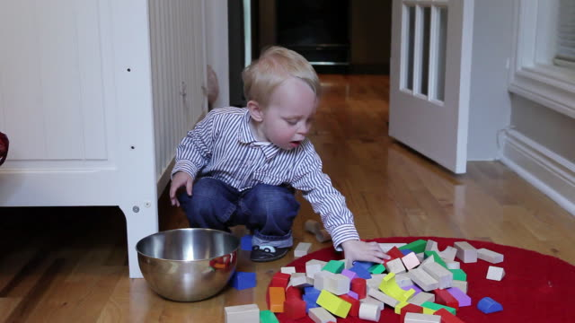 ms baby having fun in his room on floor / montreal, quebec, canada - one baby boy only stock videos & royalty-free footage