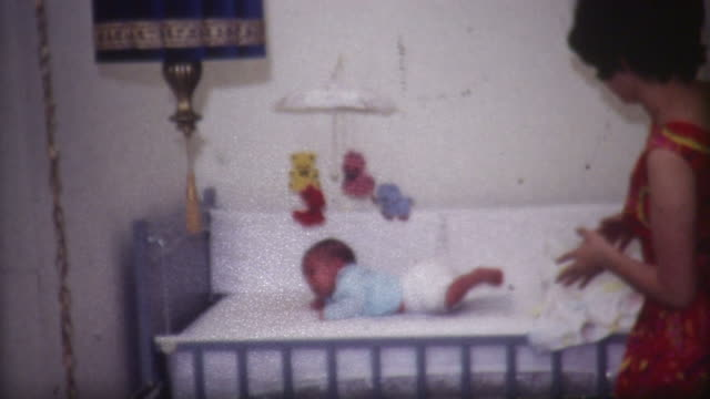 baby in crib 1960's - breastfeeding stock videos and b-roll footage
