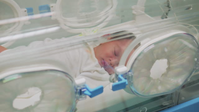 baby in incubator,two shot - nursery bedroom stock videos & royalty-free footage