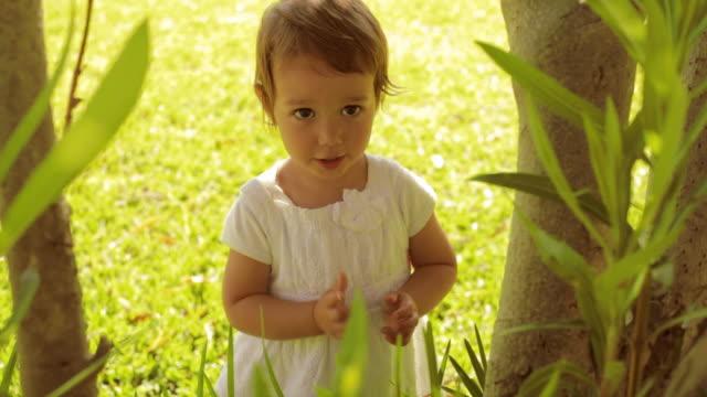 baby in park - one baby girl only stock videos & royalty-free footage