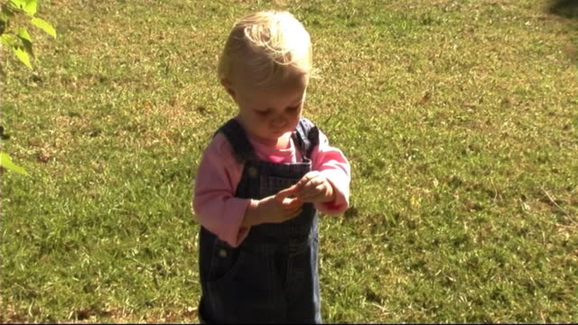 baby in park with flower - only baby girls stock videos & royalty-free footage
