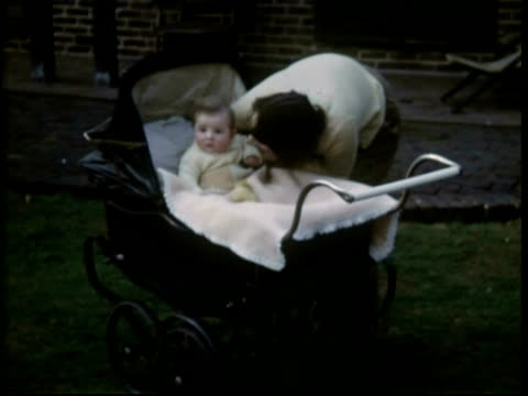 baby in pram, 1952 - 1950 stock videos & royalty-free footage