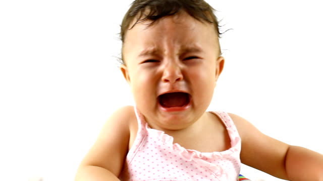 baby is crying - babies only stock videos & royalty-free footage