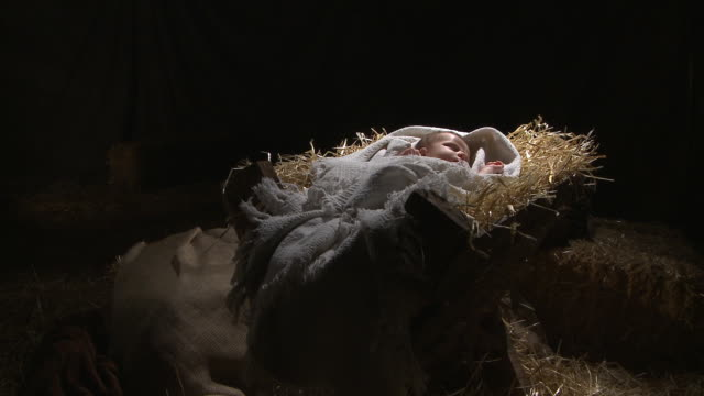 baby jesus in the manger - new life stock videos & royalty-free footage