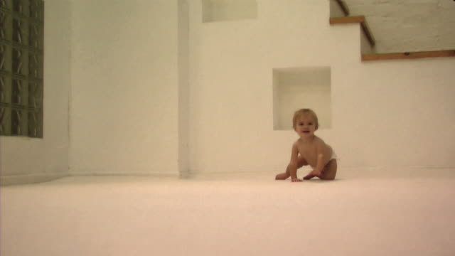 baby learning to crawl - only baby girls stock videos & royalty-free footage