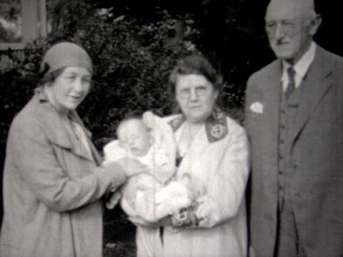 1931 baby, mom and grand parents - 1931 stock videos & royalty-free footage