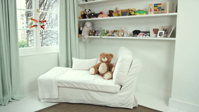 ms pan baby nursery, brussels, belgium - nursery bedroom stock videos & royalty-free footage