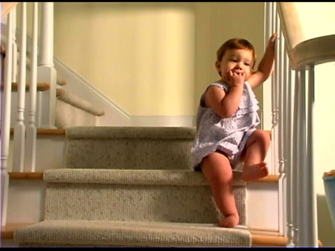 Baby on staircase