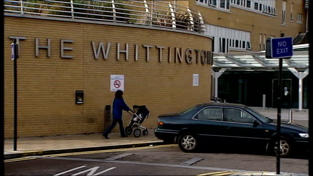 north london gp faces misconduct charge before gmc ext general view of exterior of whittington hospital entrance finchley baby p memorial plaque tilt... - memorial plaque stock videos and b-roll footage