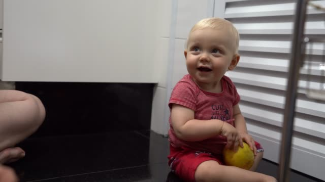 baby playing at home - man made stock videos & royalty-free footage