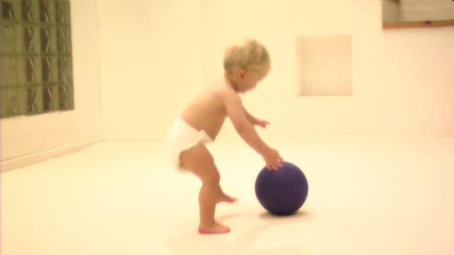 baby playing with ball - one baby boy only stock videos & royalty-free footage