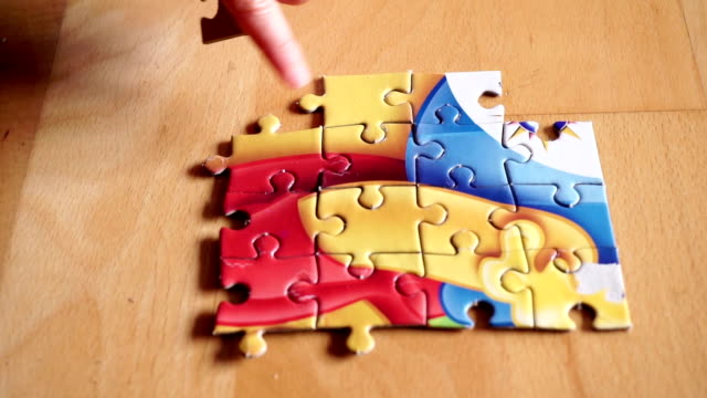 baby puzzling - puzzle stock videos & royalty-free footage