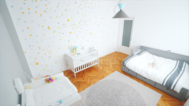 baby room tour. - cot stock videos & royalty-free footage