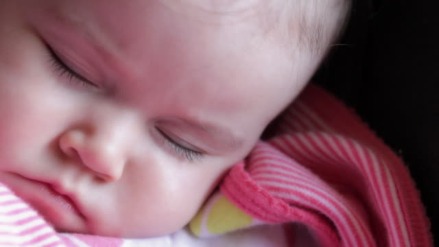 baby sleep - one baby girl only stock videos & royalty-free footage