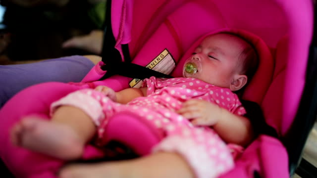 baby sleeping in cradle - camp bed stock videos & royalty-free footage