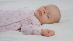 Baby Sleeping Sound on the Bed