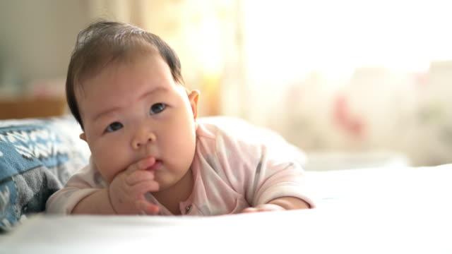 baby smile - camminare a gattoni video stock e b–roll