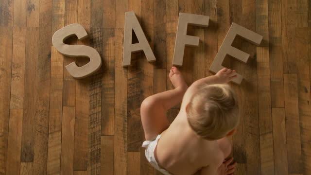 Baby spells 'safe'