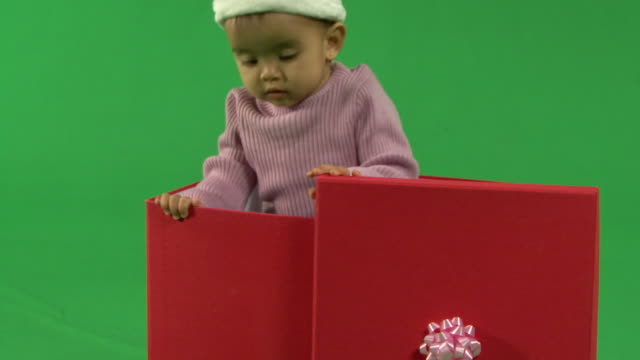 zo ls baby standing in a box - babies only stock videos & royalty-free footage