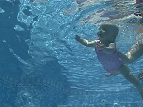 baby swimming - babyhood stock videos & royalty-free footage