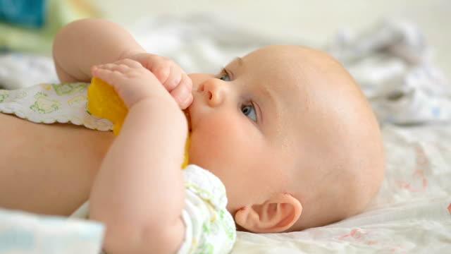 baby teething problem - sucking stock videos & royalty-free footage