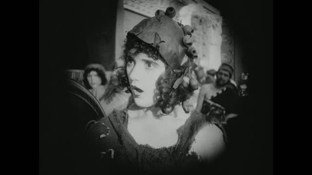 a babylonian woman is in awe - silent film stock videos & royalty-free footage