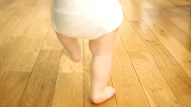 baby's first steps - toddler stock videos & royalty-free footage