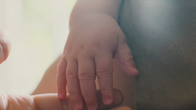 baby's hands - one baby boy only stock videos & royalty-free footage