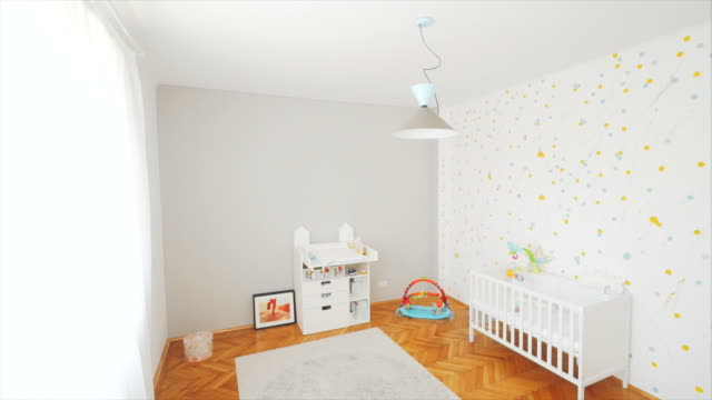 baby's room. - nursery bedroom stock videos & royalty-free footage