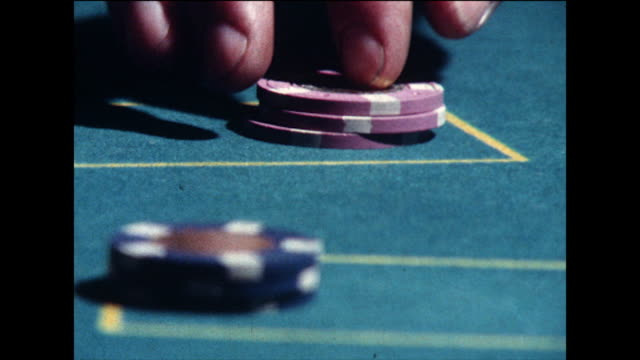 baccarat being played in a casino; 1978 - 1978 stock videos & royalty-free footage