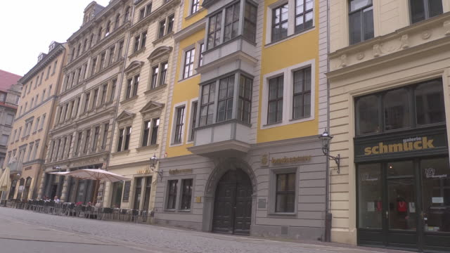 bach museum / archive in leipzig - johann sebastian bach stock-videos und b-roll-filmmaterial