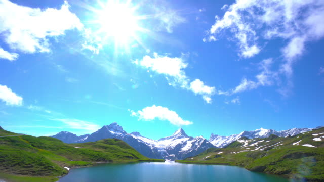 bachalpsee-first grindelwald switzerland - panoramic stock videos & royalty-free footage
