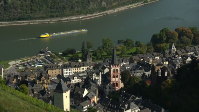bacharach, rhine river, rhineland-palatinate, germany, europe - circa 12th century stock videos and b-roll footage