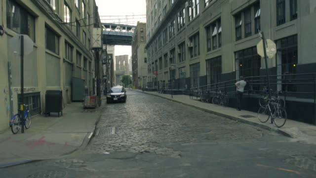 back alley - dolly shot - cobblestone stock videos & royalty-free footage