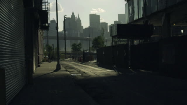back alley skyline - deterioration stock videos & royalty-free footage