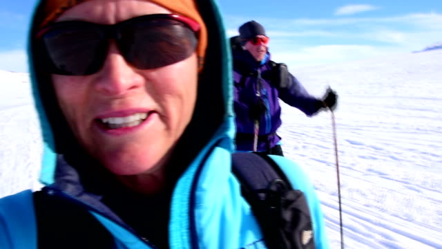 back country skiing - personal view - tourism stock videos & royalty-free footage