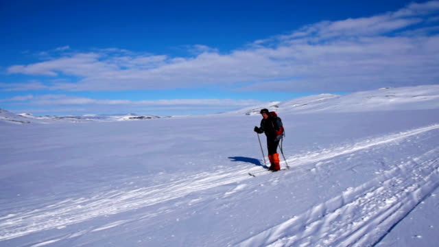 back country skiing - scandinavian culture stock videos and b-roll footage