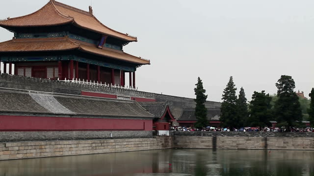 back gate of summer palace in beijing, china - china east asia stock videos & royalty-free footage