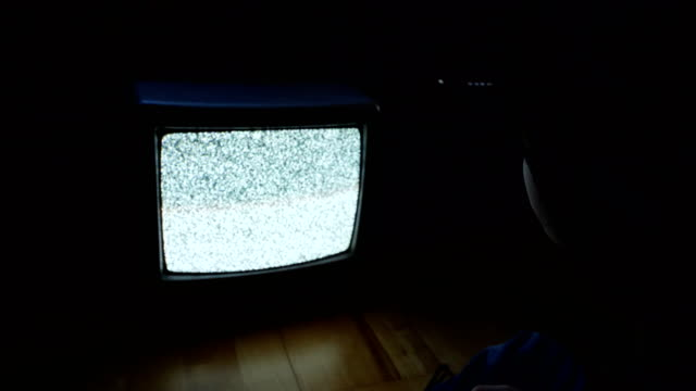 back of 6 yearsold child sitting in front of the tv - standing out from the crowd stock videos & royalty-free footage