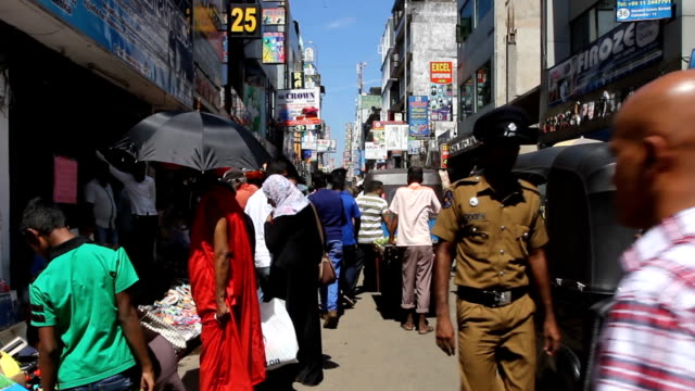back streets of colombo sri lanka - sri lanka stock videos and b-roll footage